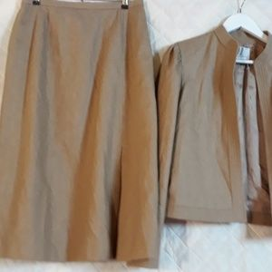 Vintage Wool JH Collectibles Tan Suit Unstructured